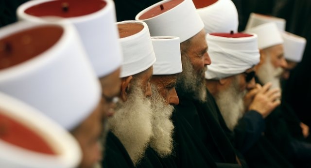 Druze Sheikhs Protest in Sweida
