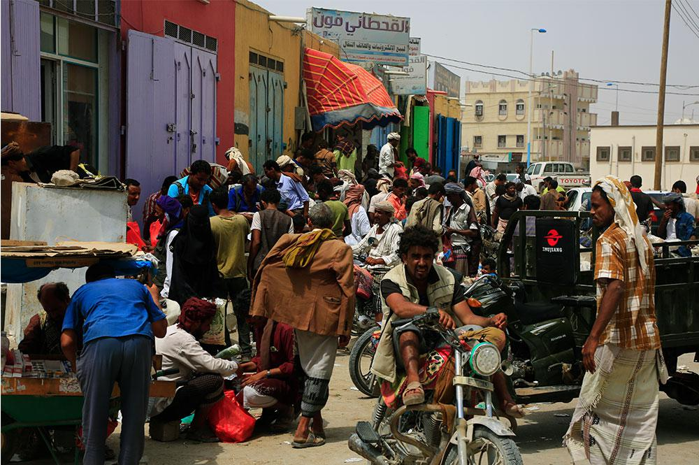 Popular market in Ghayda City