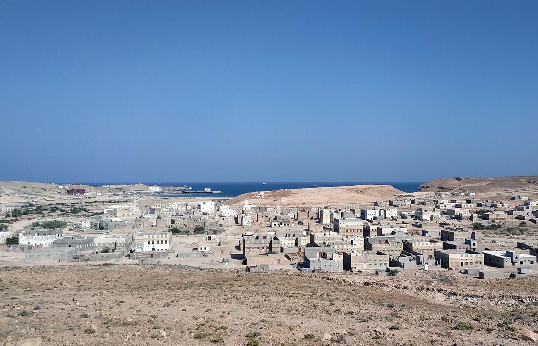 On the coast near Nishtun Port