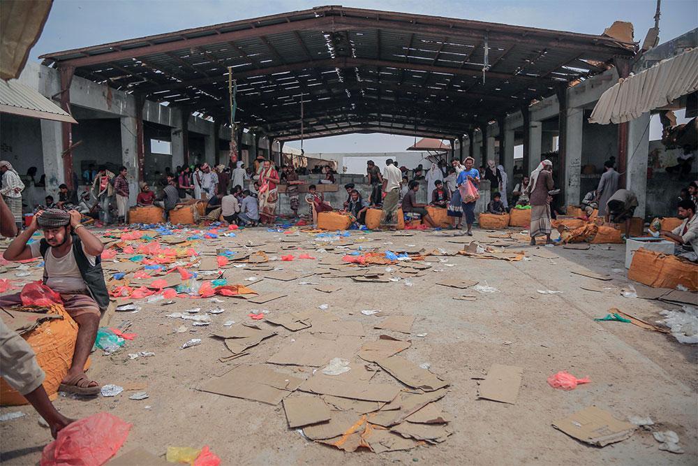 A large qat market in Mahra