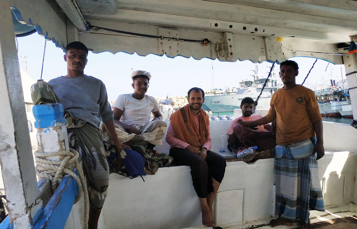Salem, a Mahri fisherman (second from the left) with this commentary's author