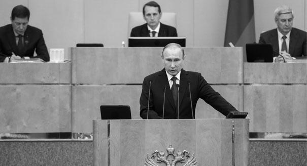 Путин в Думе. Новый формат российского парламента