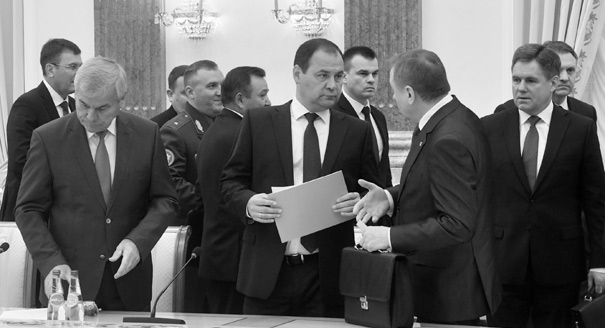 "Belarus Reshuffle Produces ""Wartime Cabinet"""