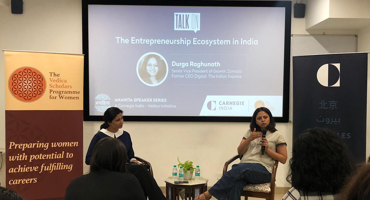 The Entrepreneurship Ecosystem in India